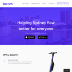 $3 Credit via Referral @ Beam Scooters (Christchurch)