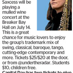 Win a Double Pass to Saxcess from The Dominion Post (Wellington)