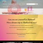 Win a Trip for 2 to Thailand (Flights, 4 Nights Hotel, etc.) from Tourism Authority of Thailand
