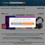 Huawei Nova 5T $699 with free Sennheiser Wireless Headphones at  PBTech (Thu, 19 Sept, 2019 only)