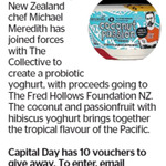 Win 1 of 10 Coconut and Passionfruit with Hibiscus Yoghurt from The Dominion Post