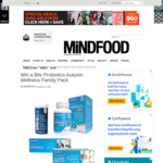 Win a Blis Probiotics Autumn Wellness Family Pack Worth $264.55 with Mindfood