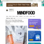 Win 1 of 4 Two Birds Beauty Replenish & Repair Bio Retinol Serums Worth $79ea from Mindfood