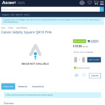 Canon Selphy Square QX10 in Pink at $19.95 @ Ascent