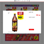 L&P Soft Drink 1.5L $0.99 (Save $1.80) @ New World