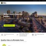 Free Ride (up to $20) & 50% off All Rides (up to $10) from OLA Cabs