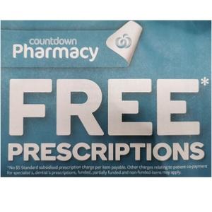 Free Prescriptions @ Countdown Pharmacy (Nationwide)