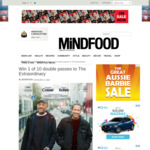 Win 1 of 10 Double Passes to The Extraordinary from Mindfood