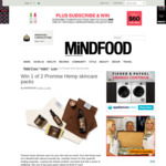 Win 1 of 2 Promise Hemp Skincare Packs from Mindfood