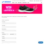Win 1 of 4 Pairs of Levitate 4 Runners from Brooks