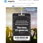 Acquire Customer Event (HP Elite X3 G1 $456.08, HP Pavilion x360 $521.42 and more)
