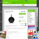 Cast Iron Pans - 3pk - $19.99 + Shipping @ 1-Day