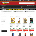 Minimum 20% off Sitewide @ Supercheap Online Only