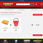 Sponge + Large Bucket $2 @ Supercheap Auto