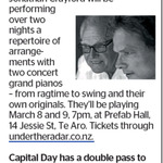 Win a Double Pass to See Terry and Jonathan Crayford from The Dominion Post (Wellington)