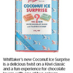 Win 1 of 3 Blocks of Whittakers Coconut Ice Surprise from The Dominion Post
