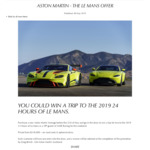 Win a Trip to Le Mans with Aston Martin