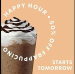 50% off Frappuccinos from 3pm to 5pm 2-5 February @ Starbucks