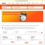 Jetstar Weekend Fare Frenzy: AKL/WLG - OOL $119 One Way, AKL/CHC - MEL $119 One Way, ZQN - SYD/MEL/OOL $149 One Way