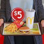 Any Size Cheeseburger Combo $5 @ McDonalds