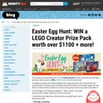 Win a LEGO Creator Prize Pack (worth $1100),  Mad Millie Prize Pack (worth $250) or 1 of 5 $20 Vouchers from Mightyape