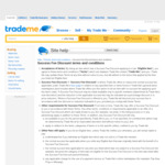 50% off Trademe Success Fee