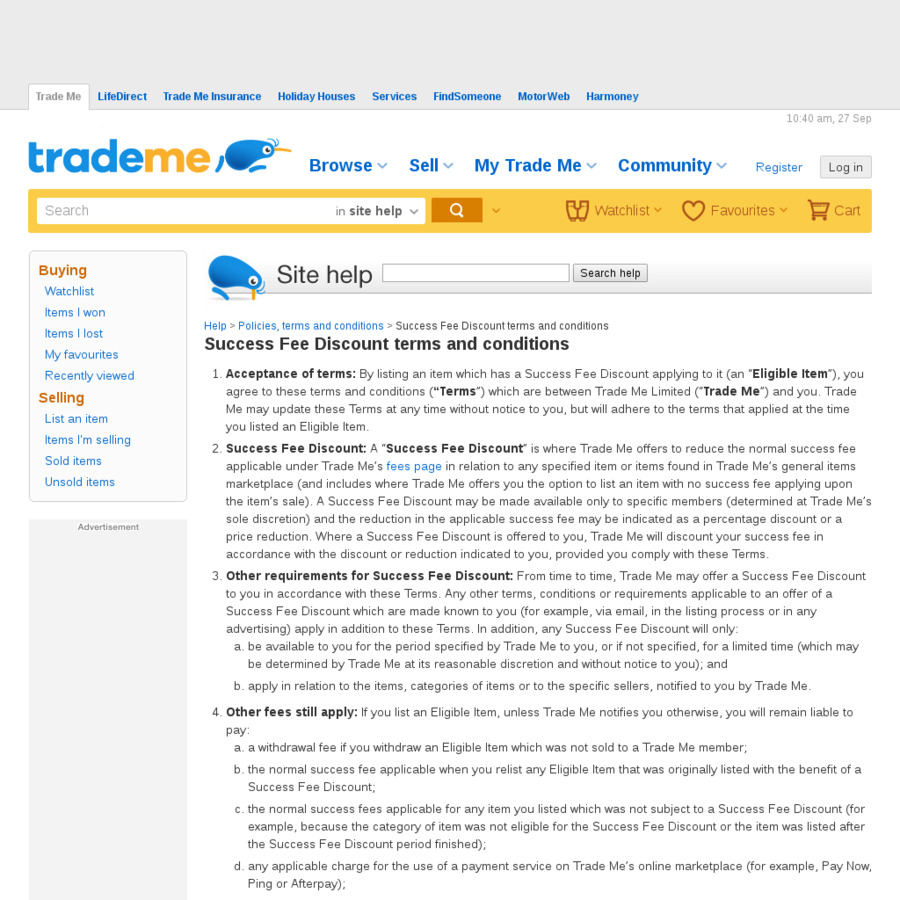 50% off Trademe Success Fee - ChoiceCheapies