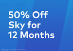 50% off Sky TV Subscription for Existing Customers via Grabone