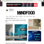 Win a De'Longhi Toaster and Kettle Set (Worth $369.98) from Mindfood