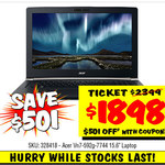 Acer VN7-592G-7744 Laptop $1898 Save $501 In Store Only , LG BP740 Smart 3D Bluray Player $99 + More - Online Only @ JB Hifi