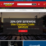 20% off RRP Sitewide @ Supercheap Auto (Online Only)