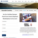 Win an Eco Holiday Pamper Pack from Hyundai