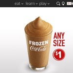 Any Size Frozen Coke $1 @ McDonald's