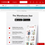 $1 Delivery When You Shop via the App @ The Warehouse