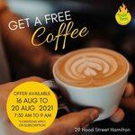Free Coffee between 7:30-9:00am @ Tudo Bem Cafe Hamilton