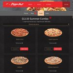 $12.50 Summer Combo (1 Large Pizza up to value $11.50, 1 Large Fries, and 1 420ml Drink) @ Pizza Hut
