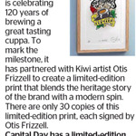 Win a Limited-Edition Bell Tea X Otis Frizzell Print (Worth $500) from The Dominion Post