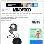 Win a JBL Headphones and Bluetooth Speaker Set from Mindfood