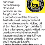 Win a Double Pass to Late Laughs from The Dominion Post (Wellington)