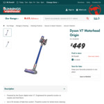 Dyson V7 Motorhead Origin $449 at Bunnings