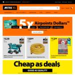 5x Airpoints Dollars Storewide @ Mitre10