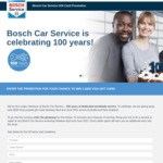 Win 1 of 5 $250 Prezzy Cards from Bosch Car Service