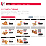 Famous Five 5pcs Secret Recipe Chicken, Lge Chips, Lge Potato & Gravy, 2 Bread Roll for $15.99 @ KFC