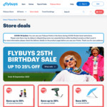 Save up to 25% @ FlyBuys Store
