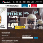 30% off Traditional/Gourmet Pizzas, $4.50 Value Pizzas, $1 Choc Lava Cake with Traditional/Gourmet + More Coupons @ Domino's