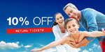 10% off Return Tickets (Adult $28.80 Return) @ SkyBus NZ