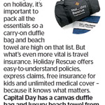 Win a Canvas Duffle Bag and Luxury Beach Towel (Worth $160) from The Dominion Pos