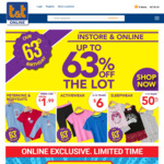 Up to 63% off (Peterkins & Baby Bodysuits $1.9, Kids Activewear $6) Free Shipping > $40 @ T&T Childrenswear (in-Store & Online)