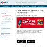 Claim an Instant 20 Cents off Per Fuel Discount @ Caltex (via App)