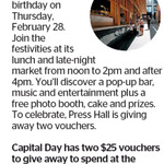 Win 1 of 2 $25 Press Hall Vouchers from The Dominion Post (Wellington)